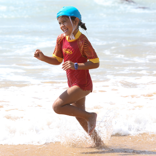 nippers running in surf